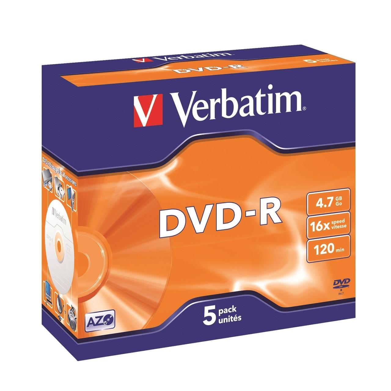 Verbatim DVD-R - 4.7GB Jewel Case 16x (8 Pack of 5 Pieces)