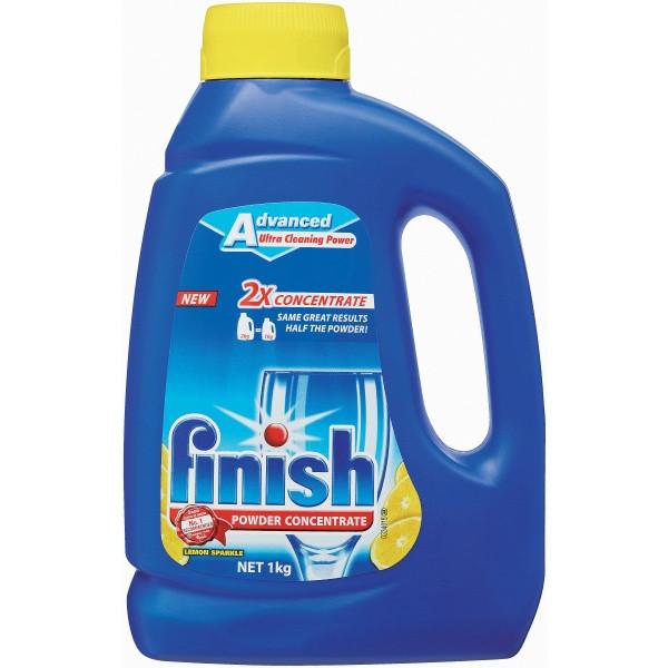 Finish Powder Concentrate Lemon 1Kg (By Carton - See Desc.)