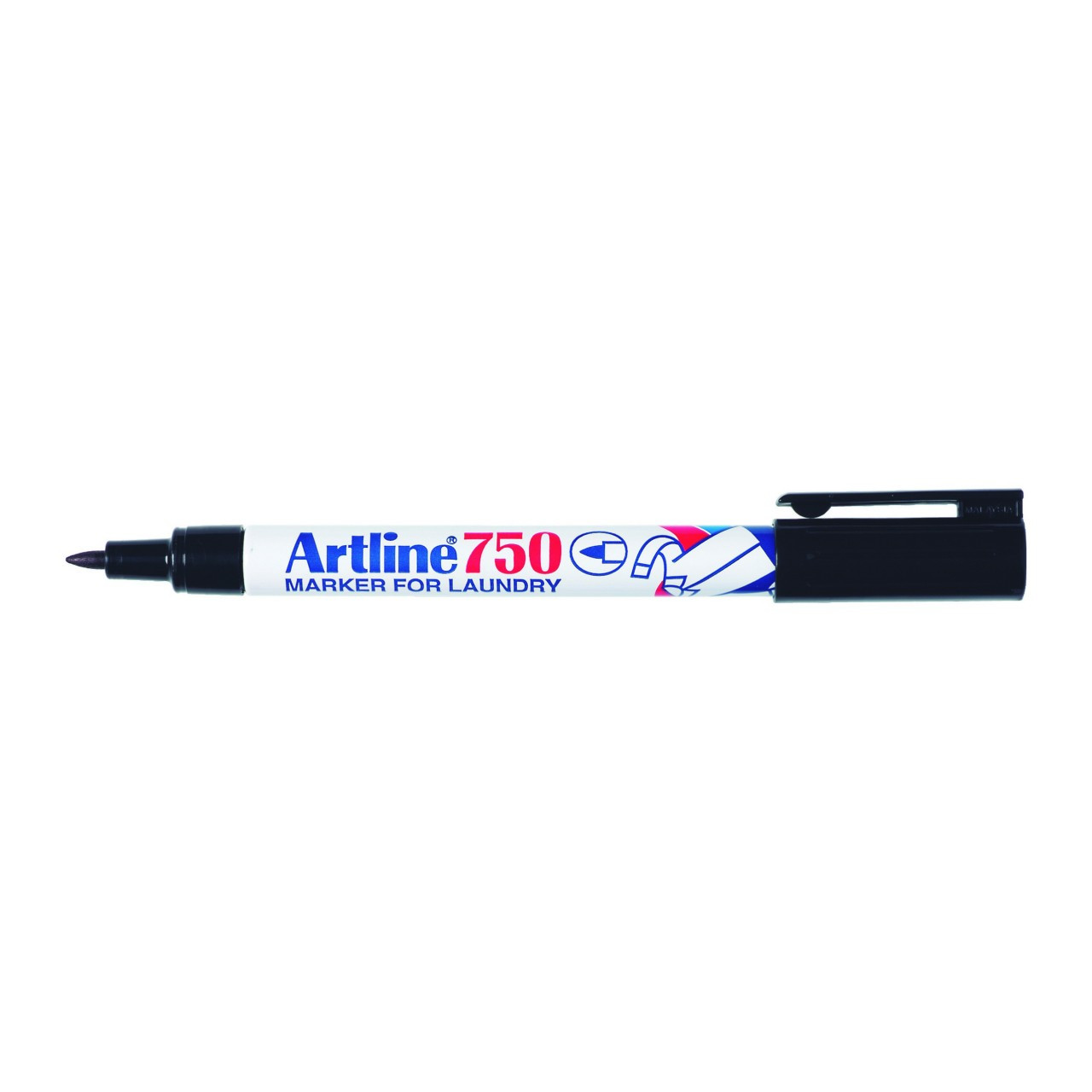 Artline 750 Laundry Marker Black 0.7Mm Bullet Nib (Bx12)