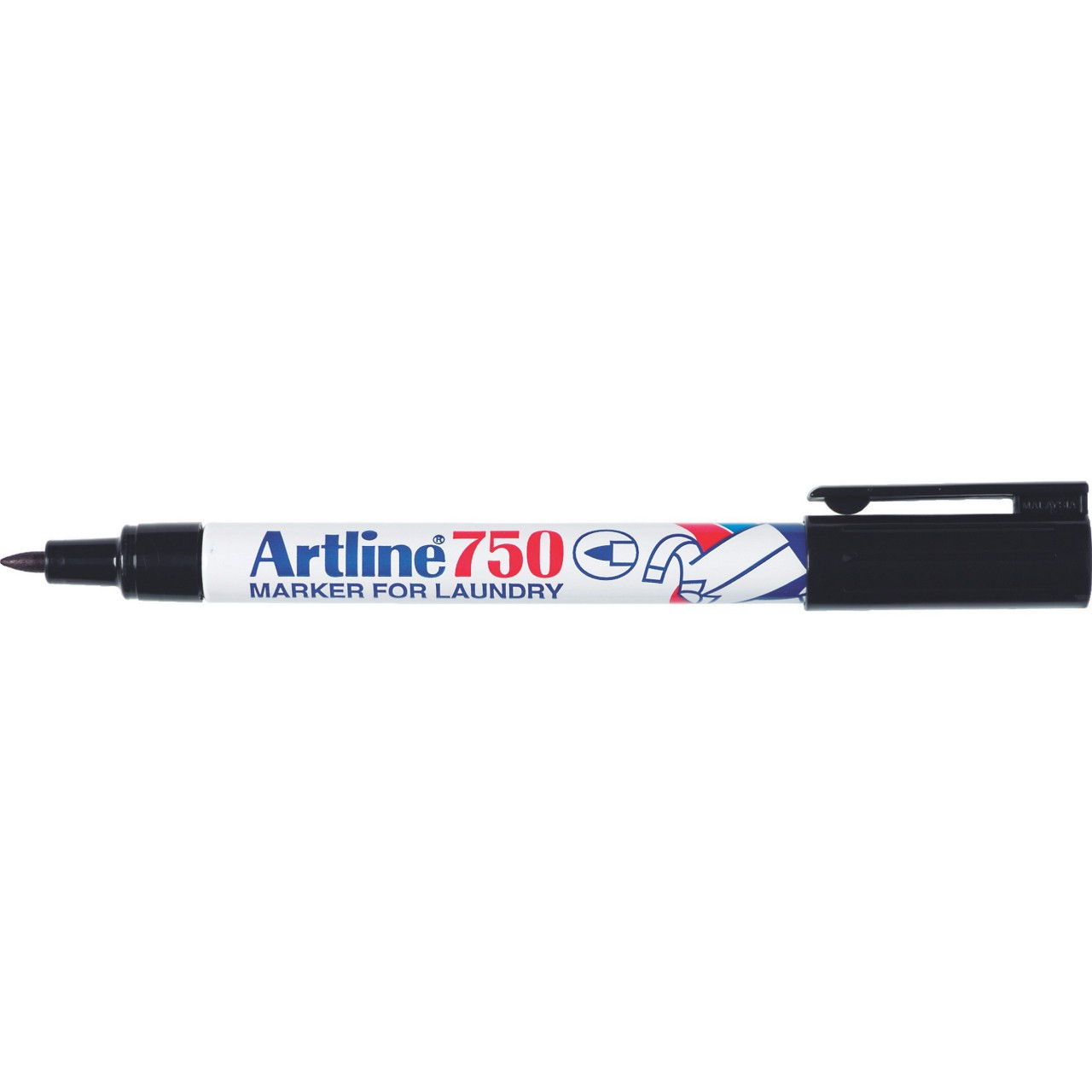 Artline 750 Laundry Marker 0.7Mm Bullet Nib (Display 24)