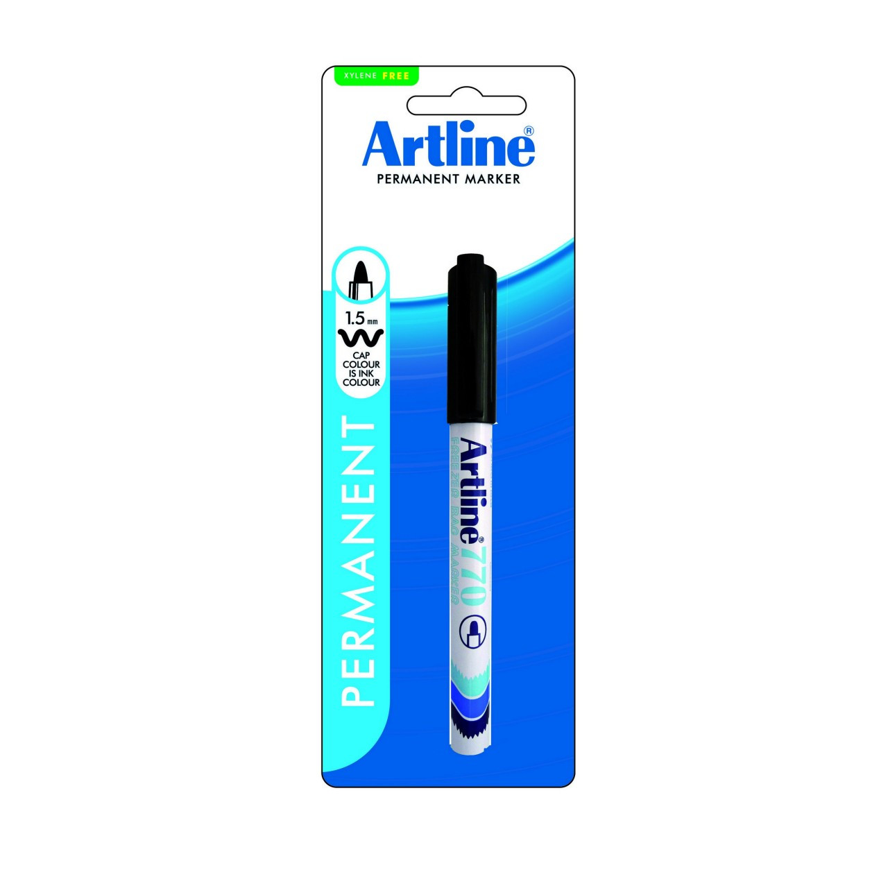 Artline 770 Freezer Bag Marker 1.0Mm Bullet Nib Black X 6 Units