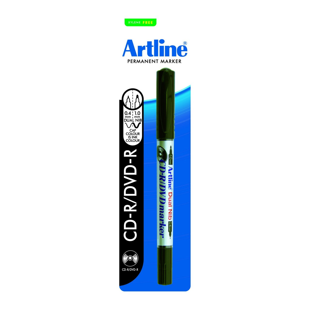 Artline 841 Cdr/Dvd Marker Dual Nib Hangsell Black 1 Pce X 6 Units