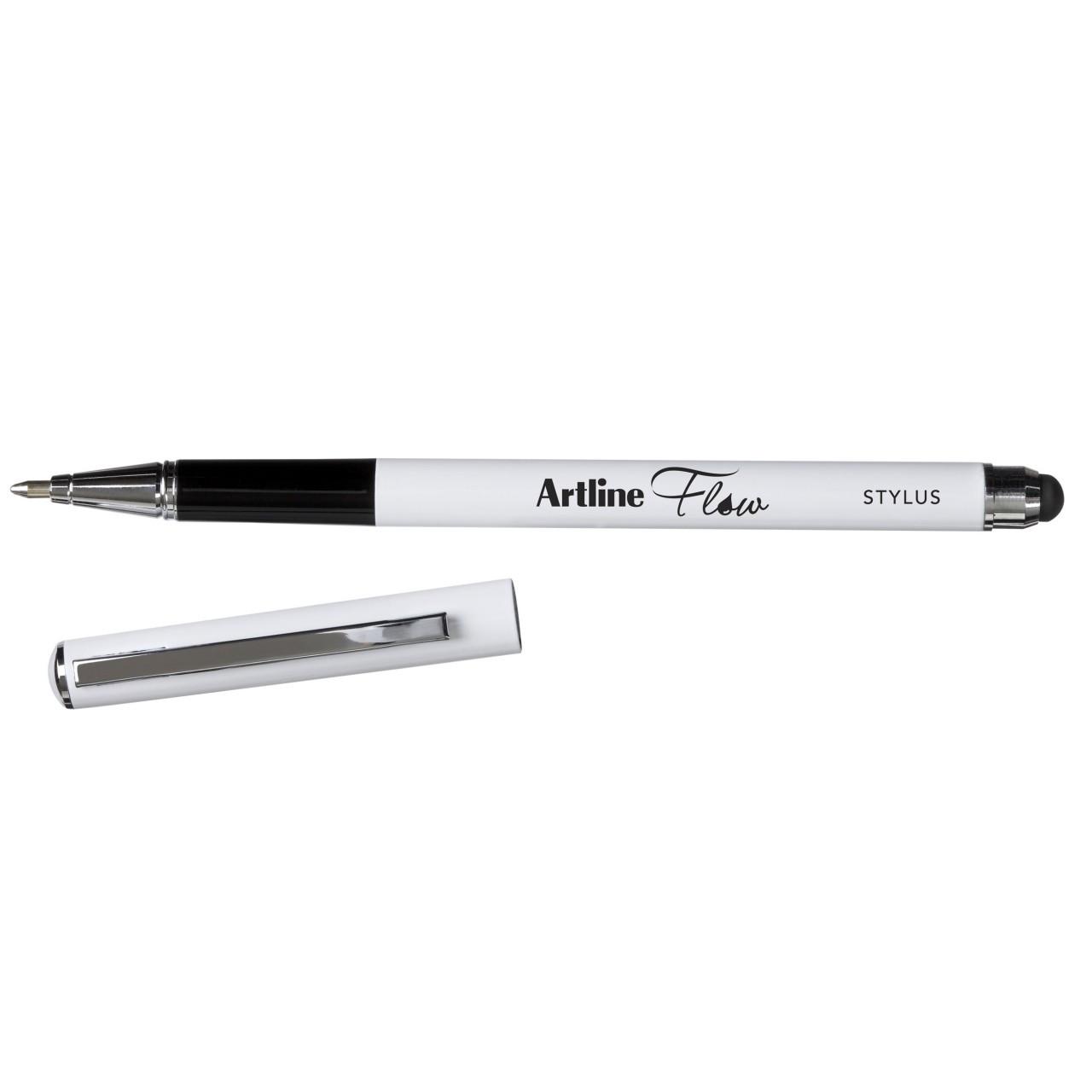 Artline Flow Metal Barrel Stylus Blue Pen (Bx12)