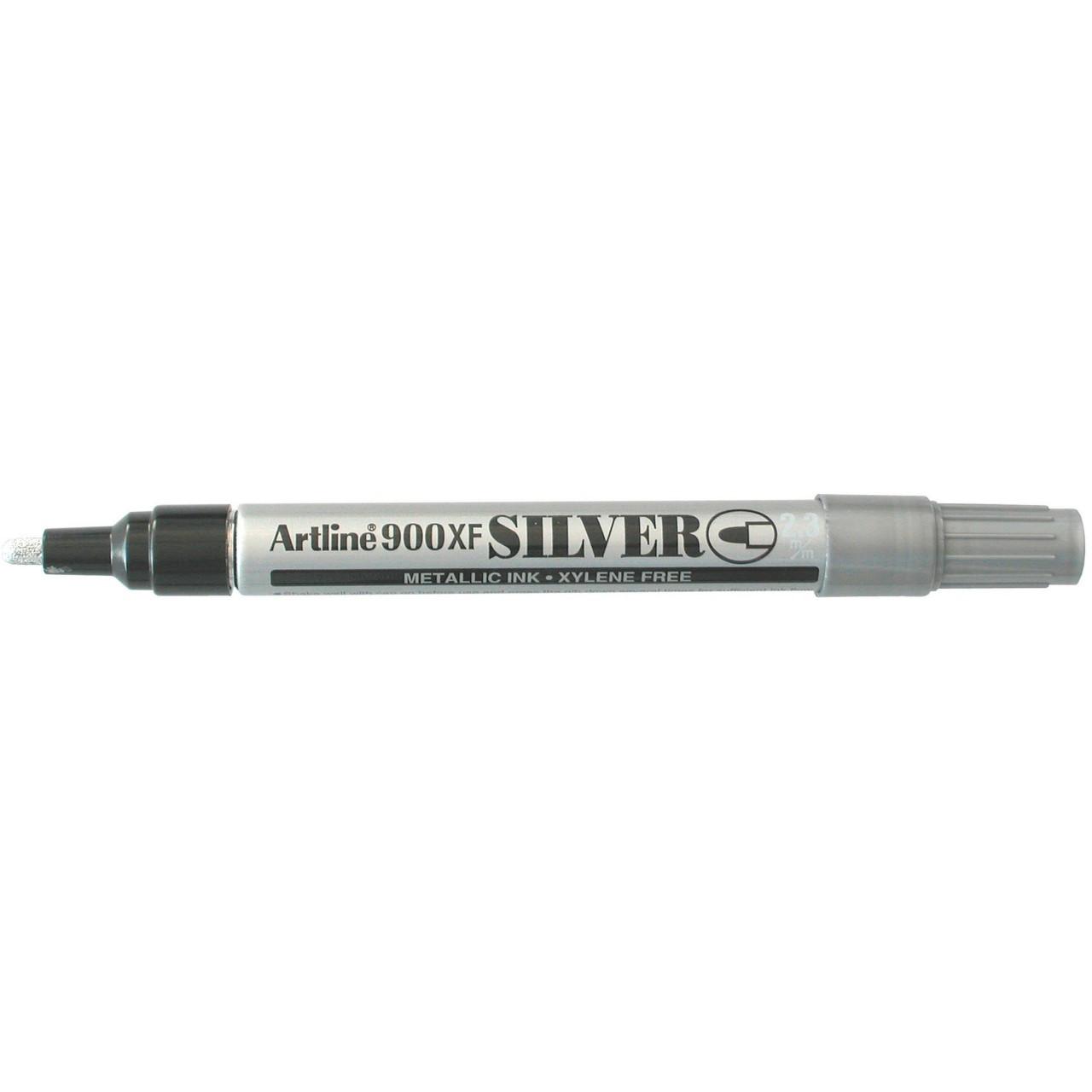 Artline 900 Metallic Marker Silver 2.3Mm Bullet Nib (Bx12)