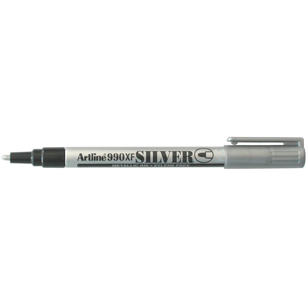 Artline 990 Metallic Marker Silver 1.2Mm Bullet Nib (Bx12)
