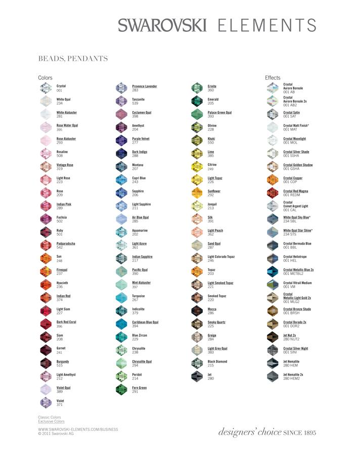 8fb76e43b6b469 Swarovski Crystal   Pearl Color Guide Images