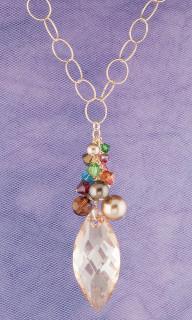 Navette Cluster Necklace in 18K Gold Vermeil Goddess