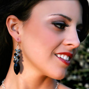 Navette Cluster Earrings in Sterling Silver Black Tie
