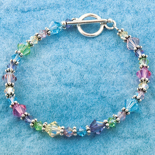 Small Bracelet in Sterling Silver Pastel