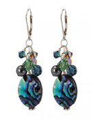 Abalone Pearl Cluster Earrings