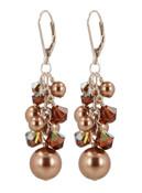 Almond Roca Cluster Earrings