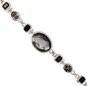 Black Shell & Swarovski Crystal Bracelet