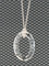Cosmic Oval Necklace in Sterling Silver Crystal (Clear)