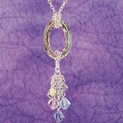Cosmic Vitrail Light Cluster Necklace