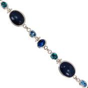 Lapis & Swarovski Crystal Bracelet