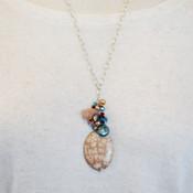 Leopard Skin Cluster Necklace
