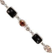 Mahoganite & Swarovski Crystal Bracelet