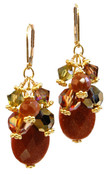 Sunstone Cluster Earrings