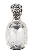 Swarovski Clear Crystal Baguette Pendant