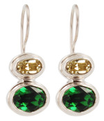 Swarovski Fern Green & Jonquil Earrings