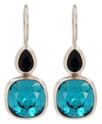 Swarovski Indicolite & Indigo Earrings