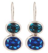Swarovski Sapphire & Indicolite Earrings