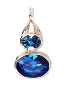 Swarovski Sapphire & Light Sapphire Pendant