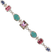 Swarovski Vitrail Light & Pacific Opal Crystal Bracelet