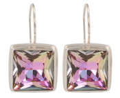 Swarovski Vitrail Light Square Earrings