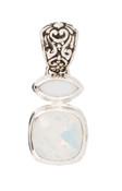 Swarovski White Opal & White Alabaster Pendant