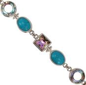 Turquoise & Swarovski Crystal Bracelet