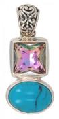 Turquoise & Swarovski Vitrail Light Pendant