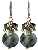 Two-tone Pyrite Cluster Earrings