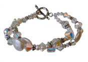 Pearl & Clear Eclectic Bracelet