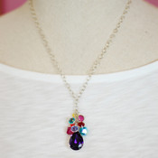 Multi Teardrop Cluster Necklace