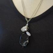 Obsidian Cluster Necklace