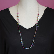 Long Dangle Necklace in Soleil