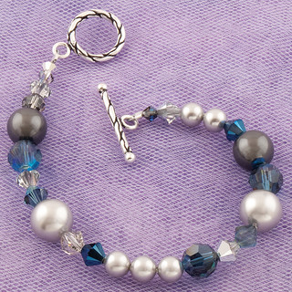 Eclectic Bracelet in Sterling Silver Chambray