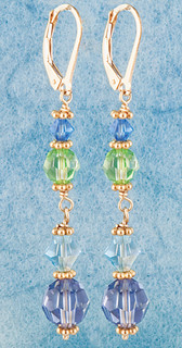 Crystal Dangle Earrings in Serenity 18k Gold Vermeil