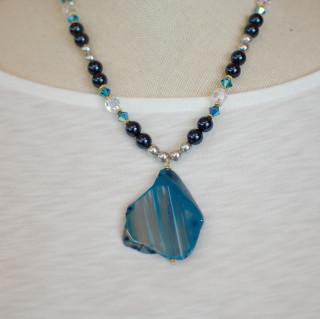 Blue Crush Necklace in 18k Gold Vermeil