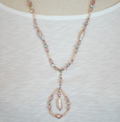 Vintage Rose Long Necklace