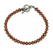 Bronze Pearl Bracelet