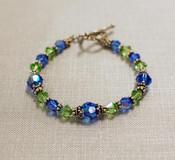 Sapphire & Peridot Crystal Bracelet