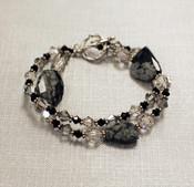 Obsidian Double Bracelet