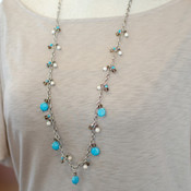 Turquoise Coral Quartz Necklace