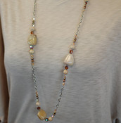 Brown Agate Long Necklace