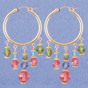 Crystal Hoop Earrings in 18k Gold Vermeil Garden