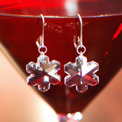 Snowflake Earrings in Sterling Silver