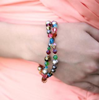 Navette Double Bracelet shown in Goddess