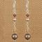 Sandy Beach Dangle Earrings in Sterling Silver